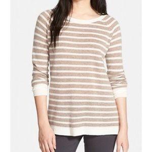 Halogen Cashmere Striped Sweater
